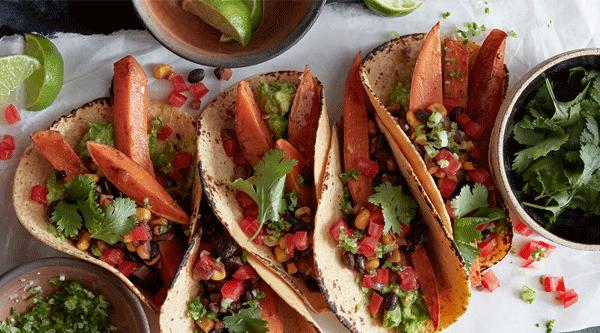 Spiced Sweet Potato Tacos