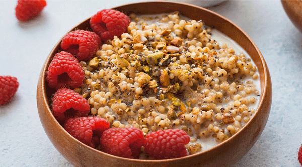 Sorghum Berry Breakfast Bowl
