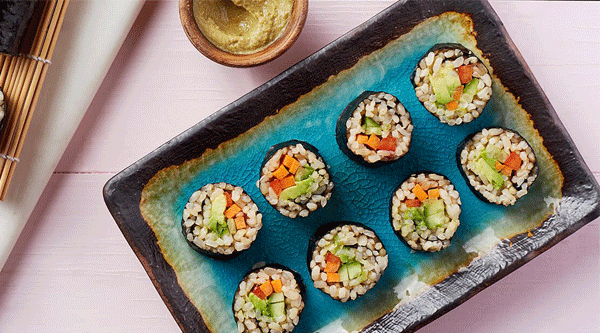 Vegetable Brown Rice Sushi