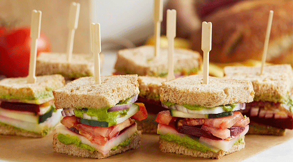Stacked Vegetable Sandwiches with Cilantro Chutney