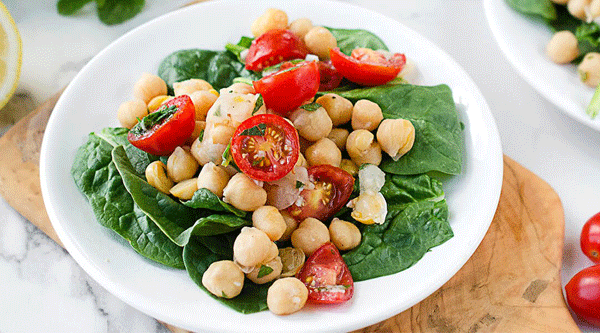 Mint Lemonade Chickpea Salad