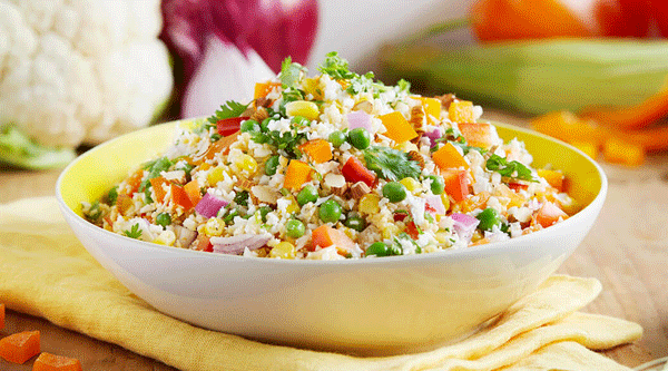 Rainbow Cauliflower Rice Salad