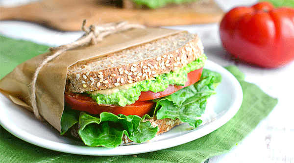 PLT (Green Pea, Lettuce & Tomato) Sandwich