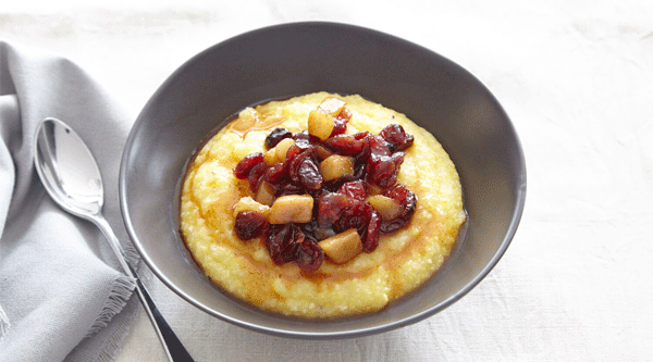Polenta with Pears and Cranberries