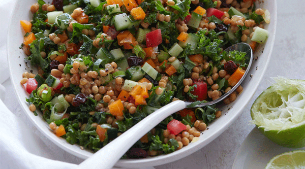 Israeli Couscous and Kale Salad