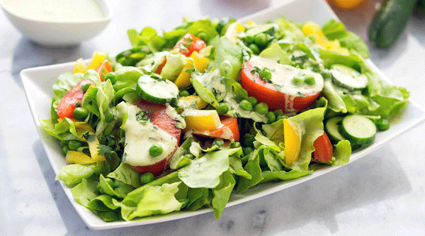 Butter Lettuce and Green Pea Salad