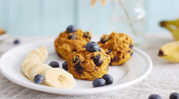 Blueberry Oat Breakfast Muffins