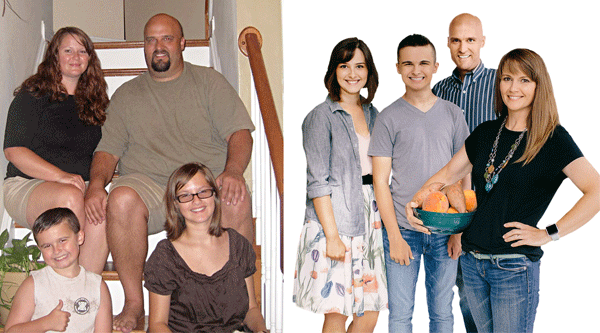 Erin Greener and Family: Before and After