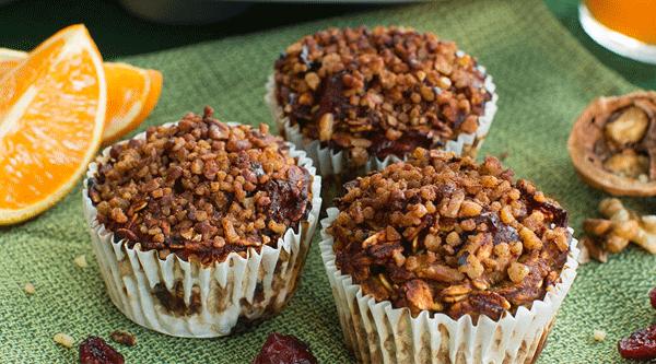 Cranberry Orange Pumpkin Muffins